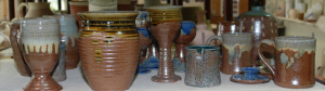 A collection of various pieces of pottery